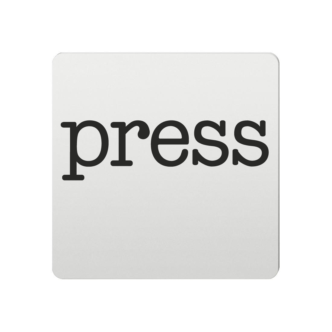 FSB Hinweiszeichen Presse Lasergraviert Aluminium naturfarbig (0 36 4059 00230 0105)