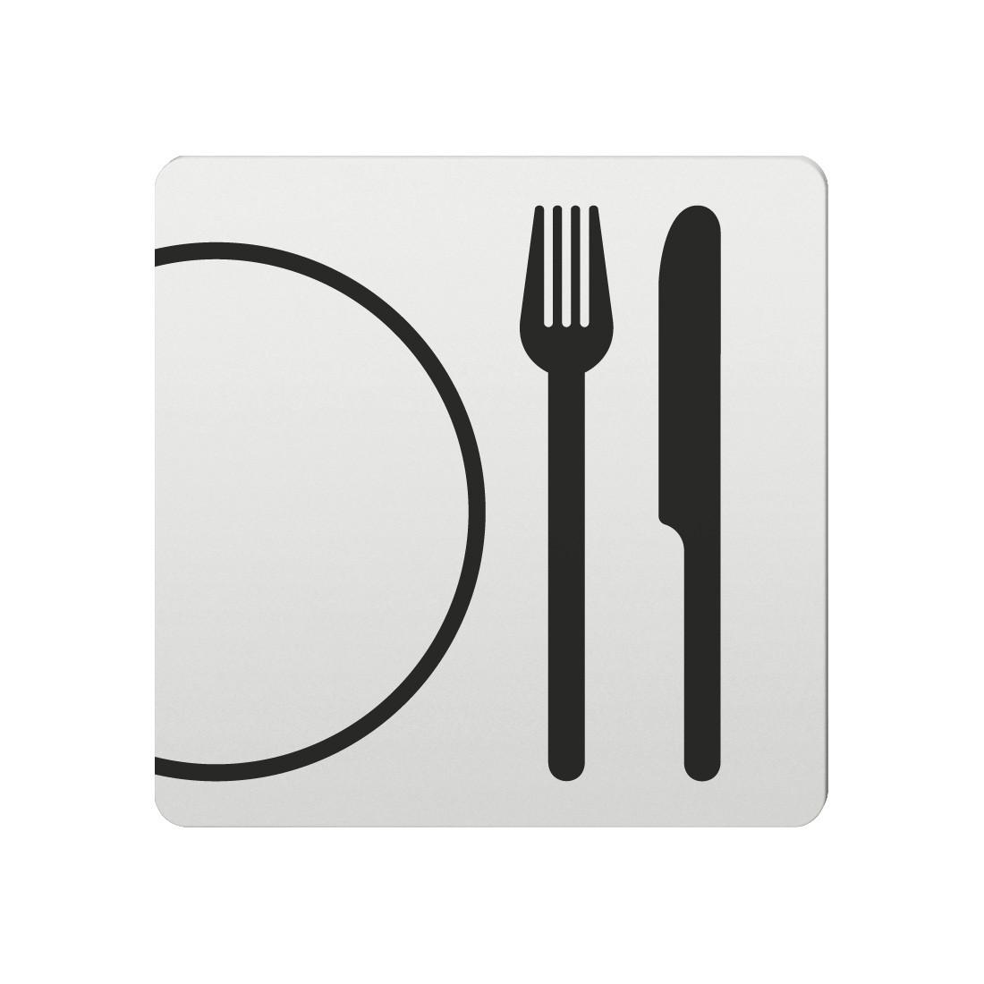 FSB Hinweiszeichen Restaurant Lasergraviert Aluminium naturfarbig (0 36 4059 00310 0105)