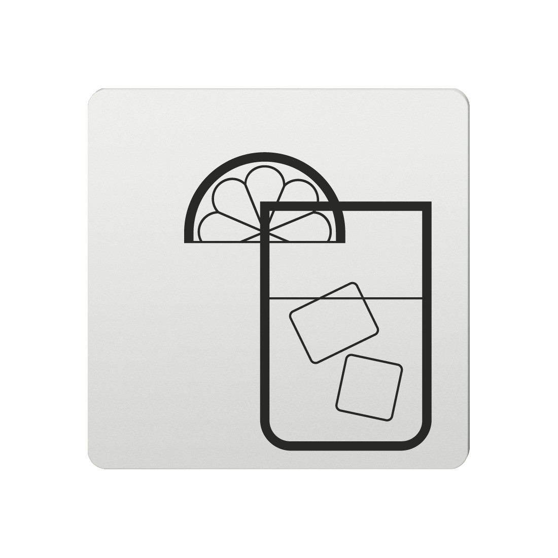 FSB Hinweiszeichen Bar Lasergraviert Aluminium naturfarbig (0 36 4059 00313 0105)