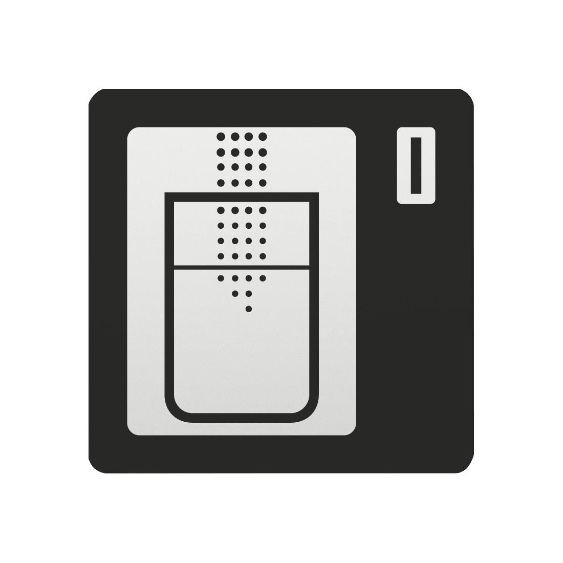 FSB Hinweiszeichen Getraenkeautomat Lasergraviert Aluminium naturfarbig (0 36 4059 00321 0105)