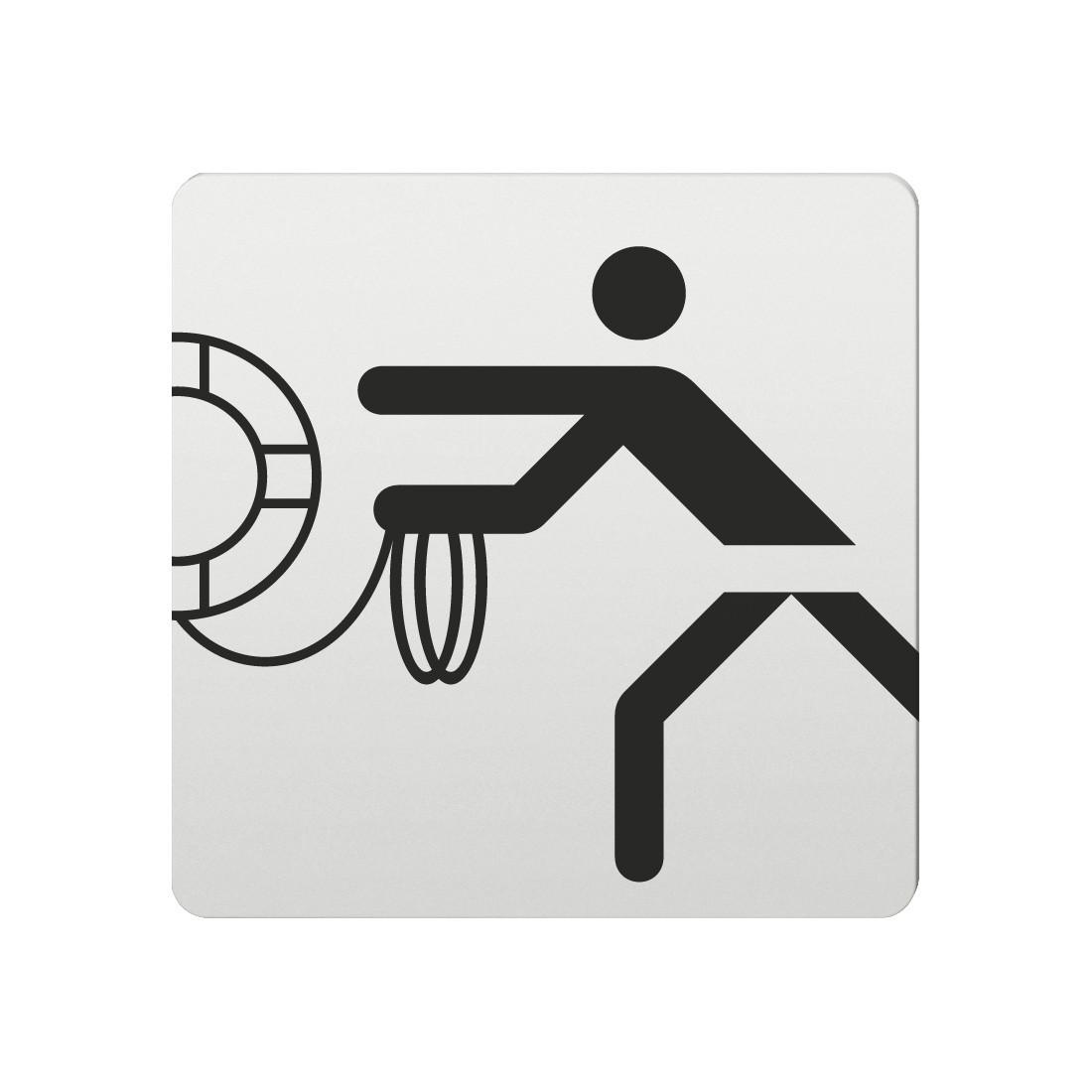 FSB Hinweiszeichen Rettungsring Lasergraviert Aluminium naturfarbig (0 36 4059 00436 0105)