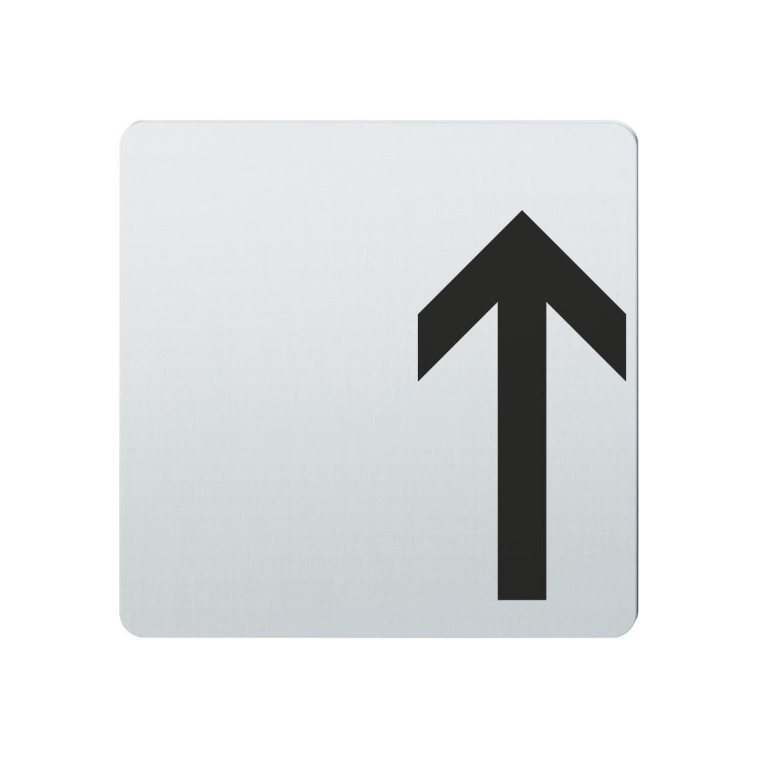 FSB Hinweiszeichen Pfeil nach oben Lasergraviert Edelstahl fein matt (0 36 4059 00002 6204)