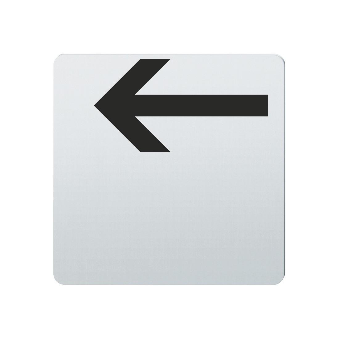 FSB Hinweiszeichen Pfeil nach links Lasergraviert Edelstahl fein matt (0 36 4059 00003 6204)