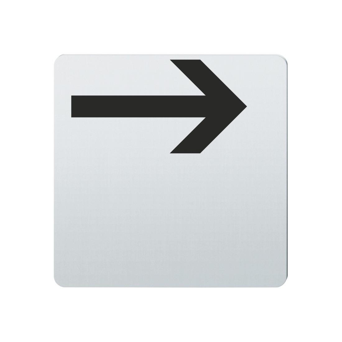 FSB Hinweiszeichen Pfeil nach rechts Lasergraviert Edelstahl fein matt (0 36 4059 00004 6204)