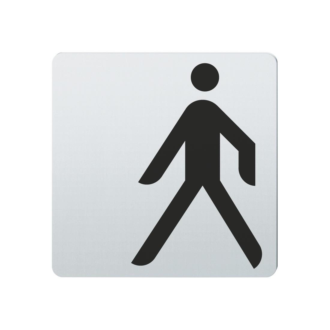 FSB Hinweiszeichen Fussgaenger Lasergraviert Edelstahl fein matt (0 36 4059 00010 6204)