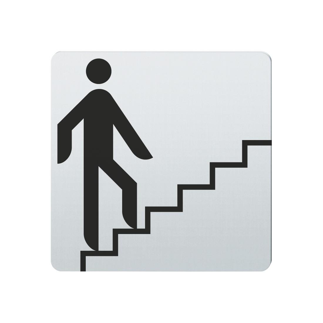 FSB Hinweiszeichen Treppe n.oben Lasergraviert Edelstahl fein matt (0 36 4059 00014 6204)