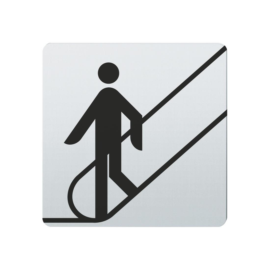 FSB Hinweiszeichen Rolltreppe nach unten Lasergraviert Edelstahl fein matt (0 36 4059 00015 6204)