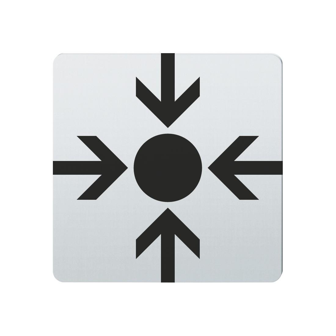 FSB Hinweiszeichen Treffpunkt Lasergraviert Edelstahl fein matt (0 36 4059 00022 6204)