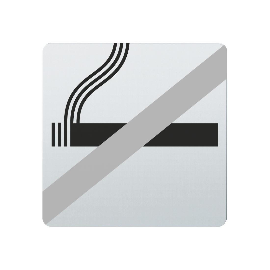 FSB Hinweiszeichen Rauchen verboten Lasergraviert Edelstahl fein matt (0 36 4059 00030 6204)