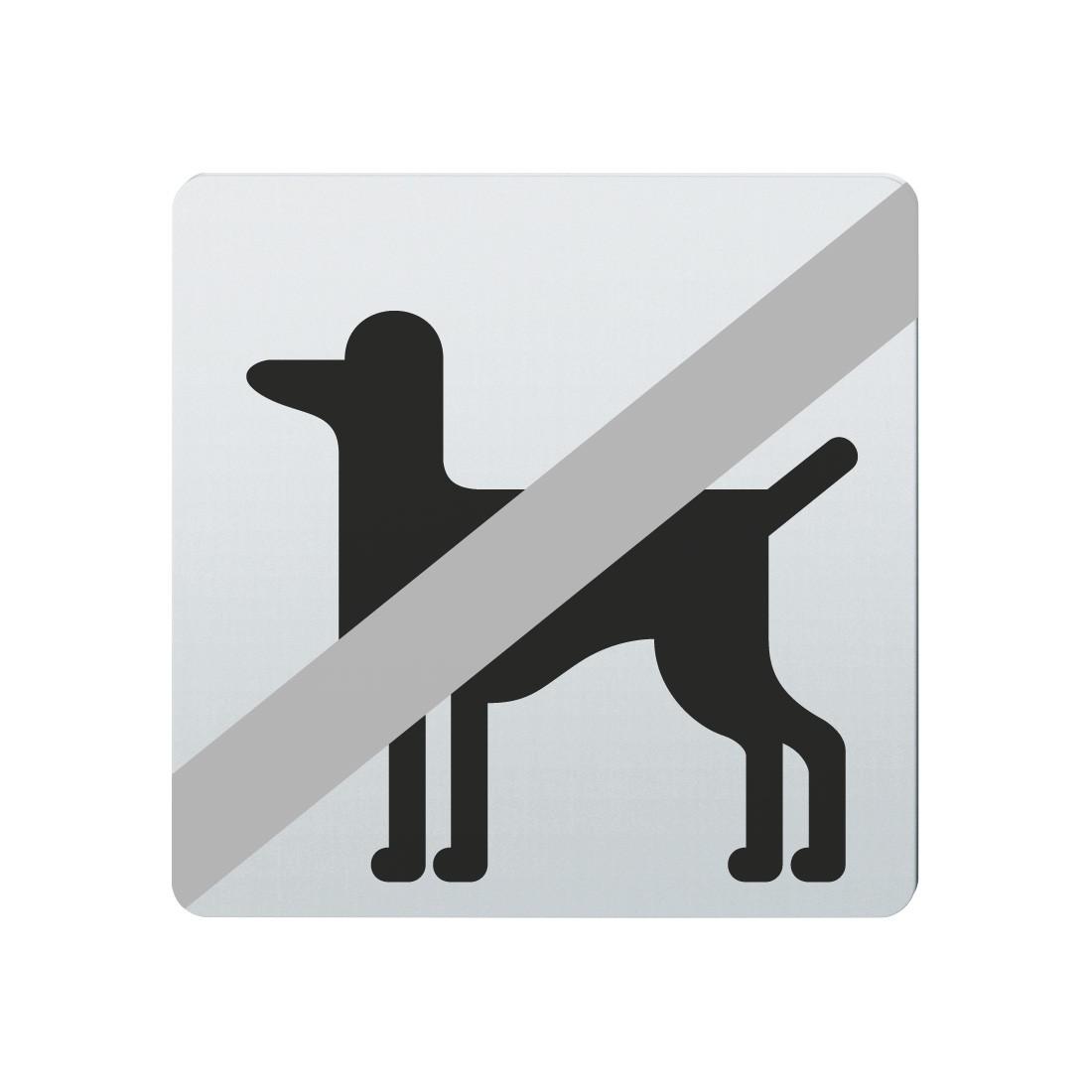 FSB Hinweiszeichen Tiere verboten Lasergraviert Edelstahl fein matt (0 36 4059 00031 6204)