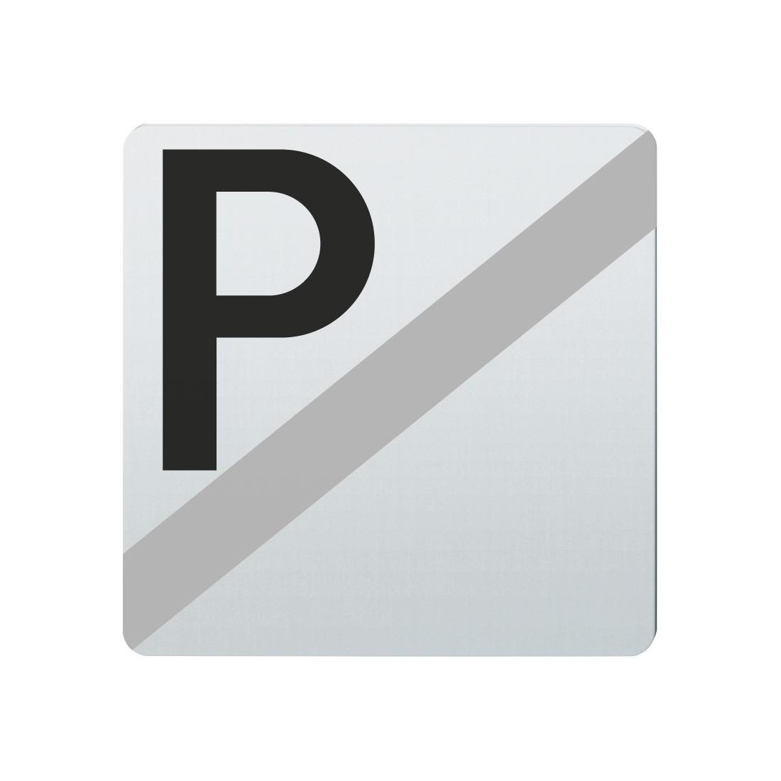 FSB Hinweiszeichen Parken verboten Lasergraviert Edelstahl fein matt (0 36 4059 00038 6204)