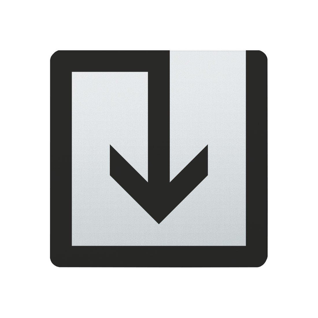 FSB Hinweiszeichen Abfall Lasergraviert Edelstahl fein matt (0 36 4059 00040 6204)