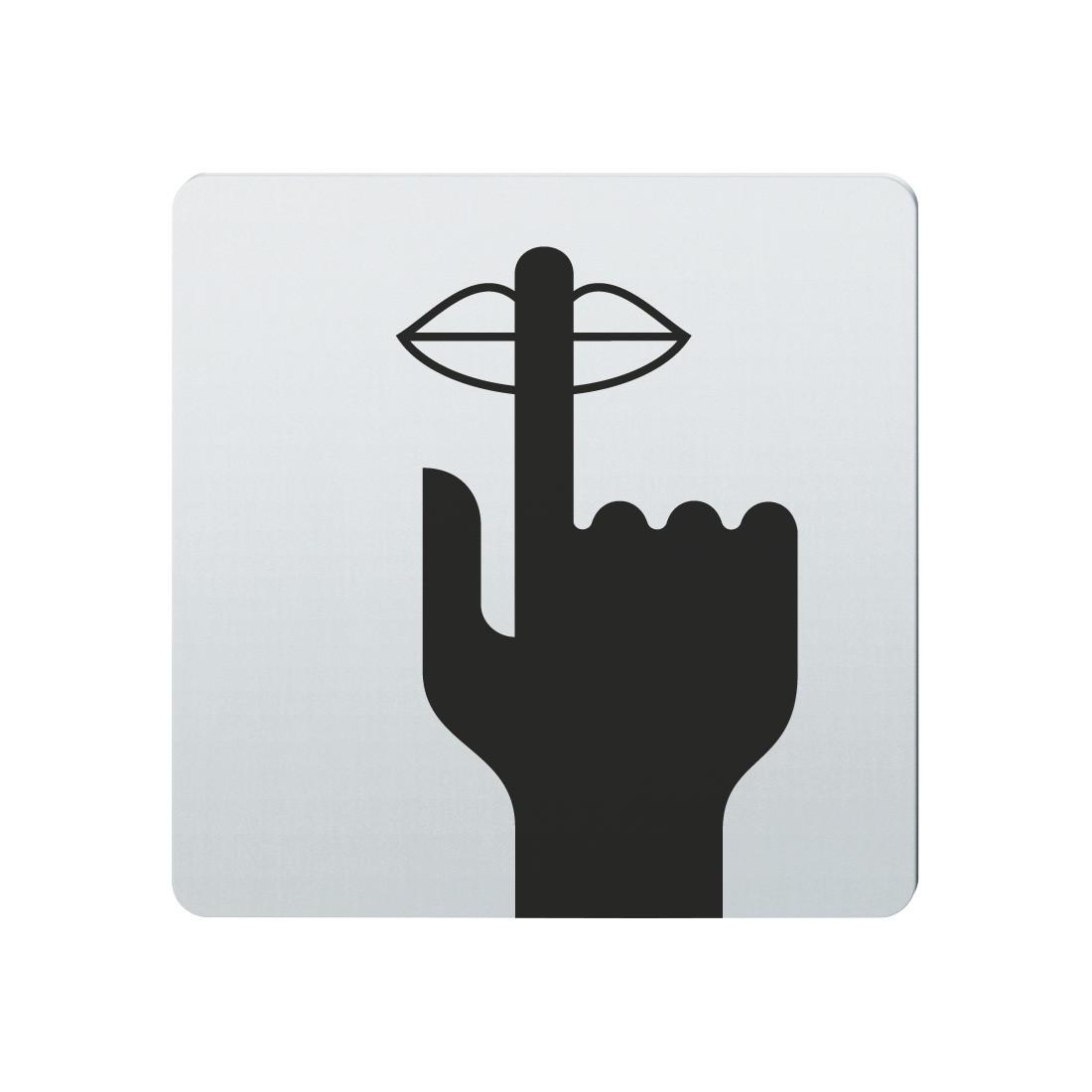 FSB Hinweiszeichen Bitte Ruhe Lasergraviert Edelstahl fein matt (0 36 4059 00041 6204)