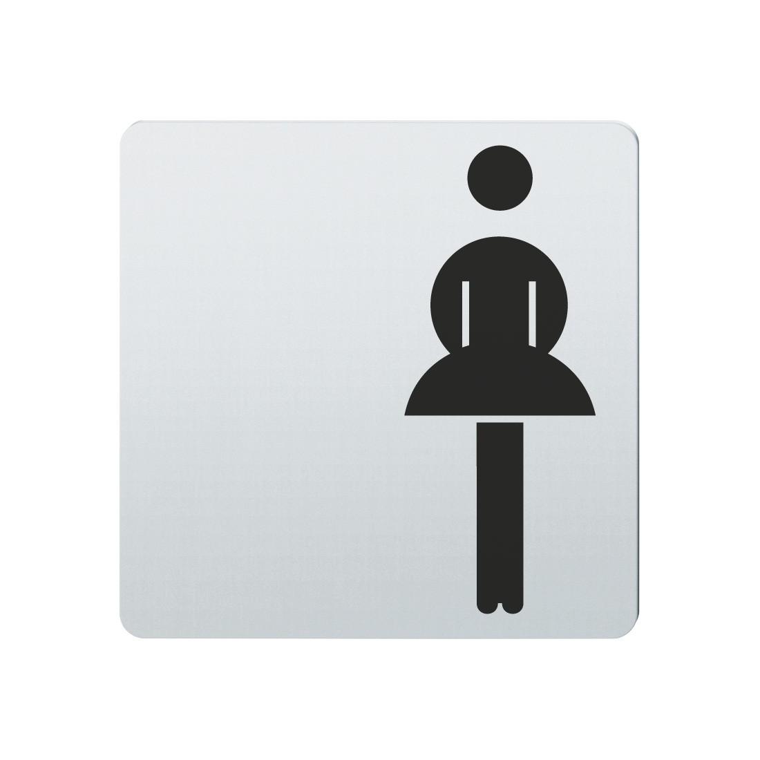 FSB Hinweiszeichen Toilette Damen Lasergraviert Edelstahl fein matt (0 36 4059 00100 6204)