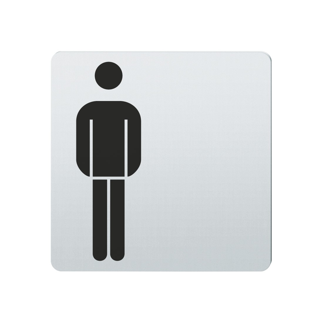 FSB Hinweiszeichen Toilette Herren Lasergraviert Edelstahl fein matt (0 36 4059 00101 6204)