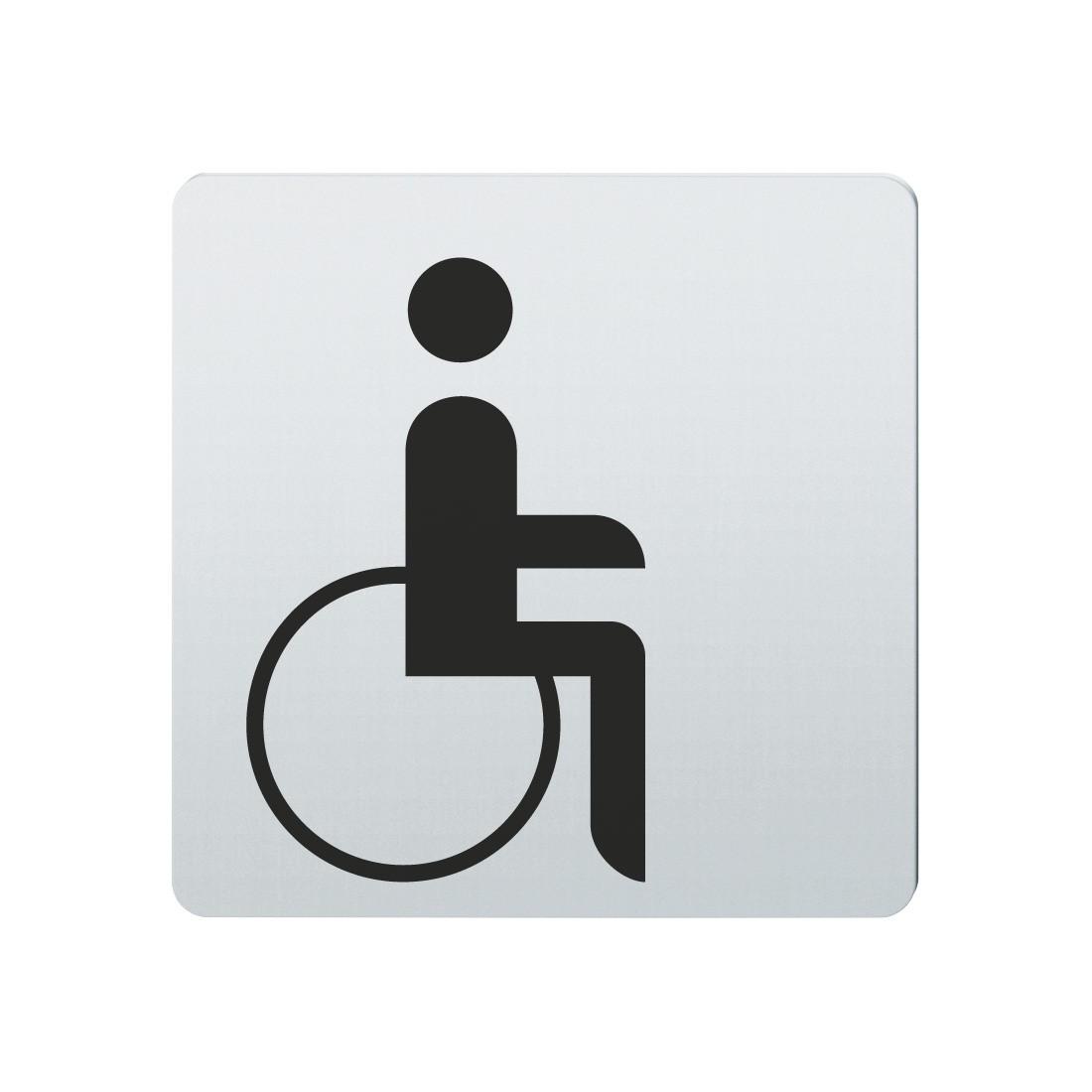 FSB Hinweiszeichen Menschen mit Handicap Lasergraviert Edelstahl fein matt (0 36 4059 00103 6204)