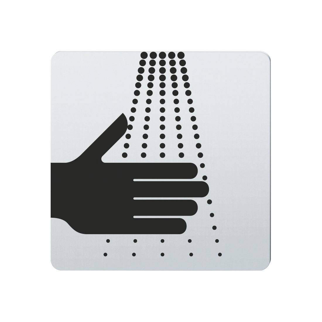 FSB Hinweiszeichen Waschgelegenheit Lasergraviert Edelstahl fein matt (0 36 4059 00104 6204)