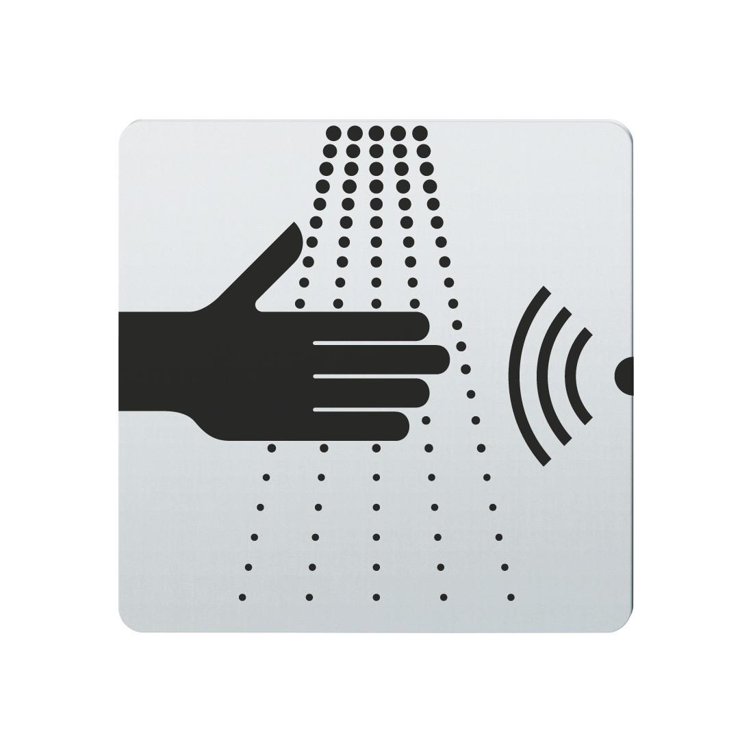 FSB Hinweiszeichen Wasserhahn (opto.) Lasergraviert Edelstahl fein matt (0 36 4059 00110 6204)