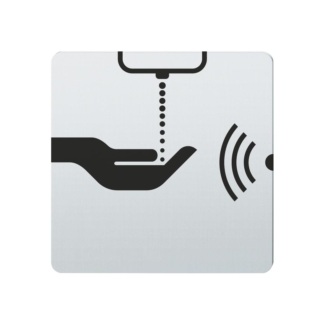 FSB Hinweiszeichen Seifenspender (opto.) Lasergraviert Edelstahl fein matt (0 36 4059 00111 6204)