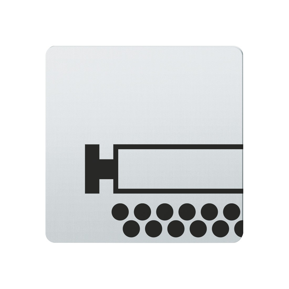 FSB Hinweiszeichen Schreibraum Lasergraviert Edelstahl fein matt (0 36 4059 00140 6204)