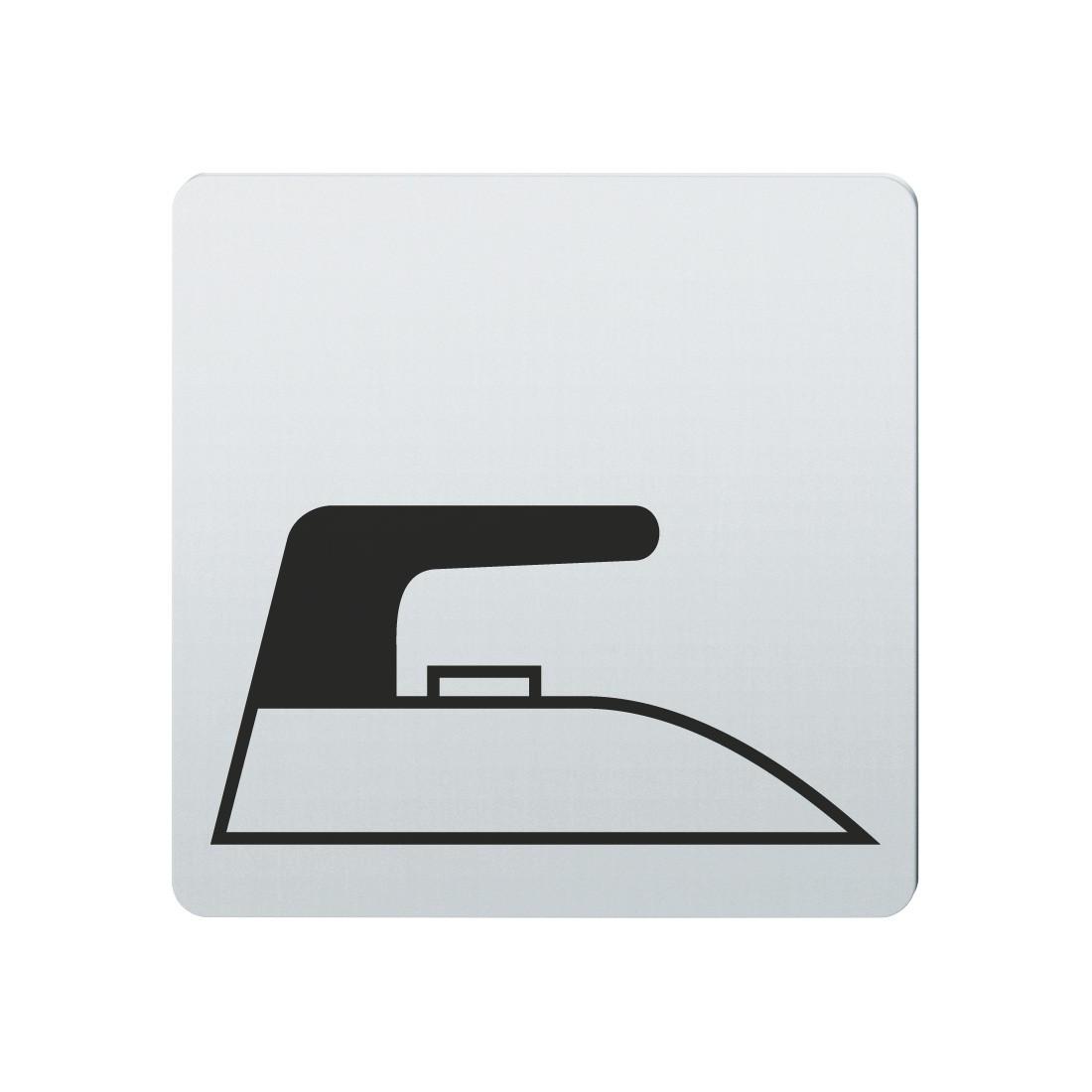 FSB Hinweiszeichen Buegelraum Lasergraviert Edelstahl fein matt (0 36 4059 00141 6204)