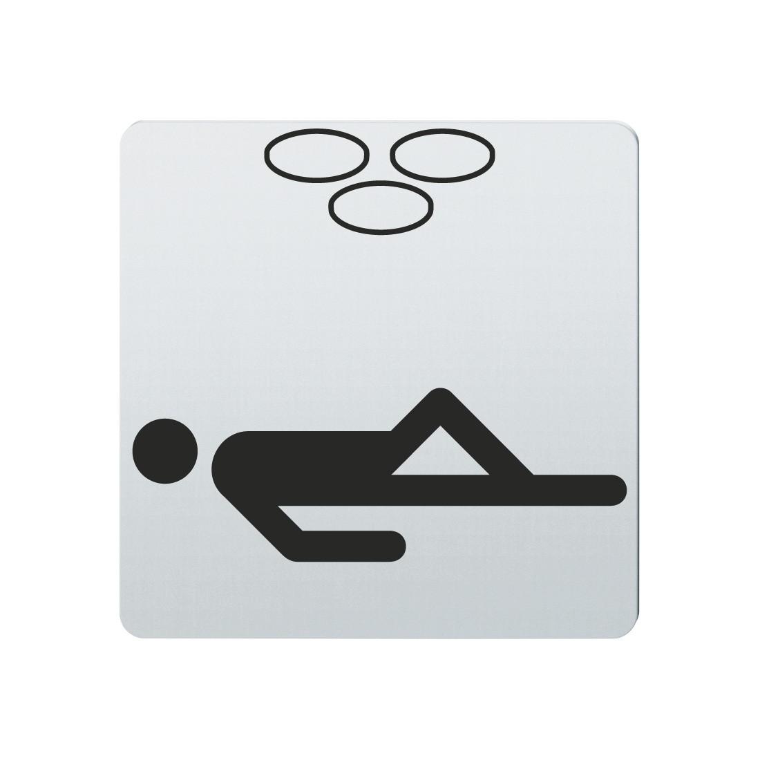 FSB Hinweiszeichen Solarium Lasergraviert Edelstahl fein matt (0 36 4059 00152 6204)