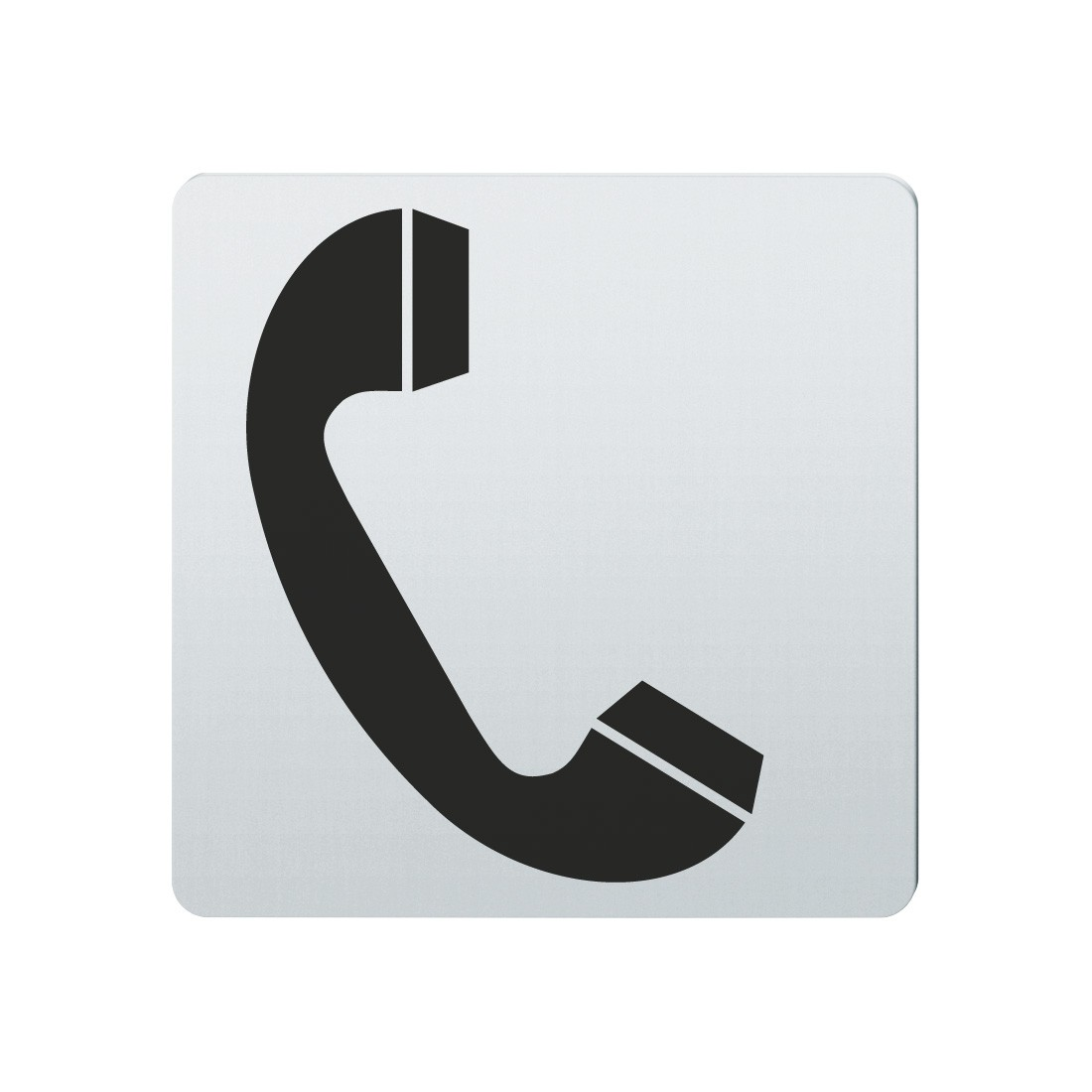 FSB Hinweiszeichen Telefon Lasergraviert Edelstahl fein matt (0 36 4059 00200 6204)