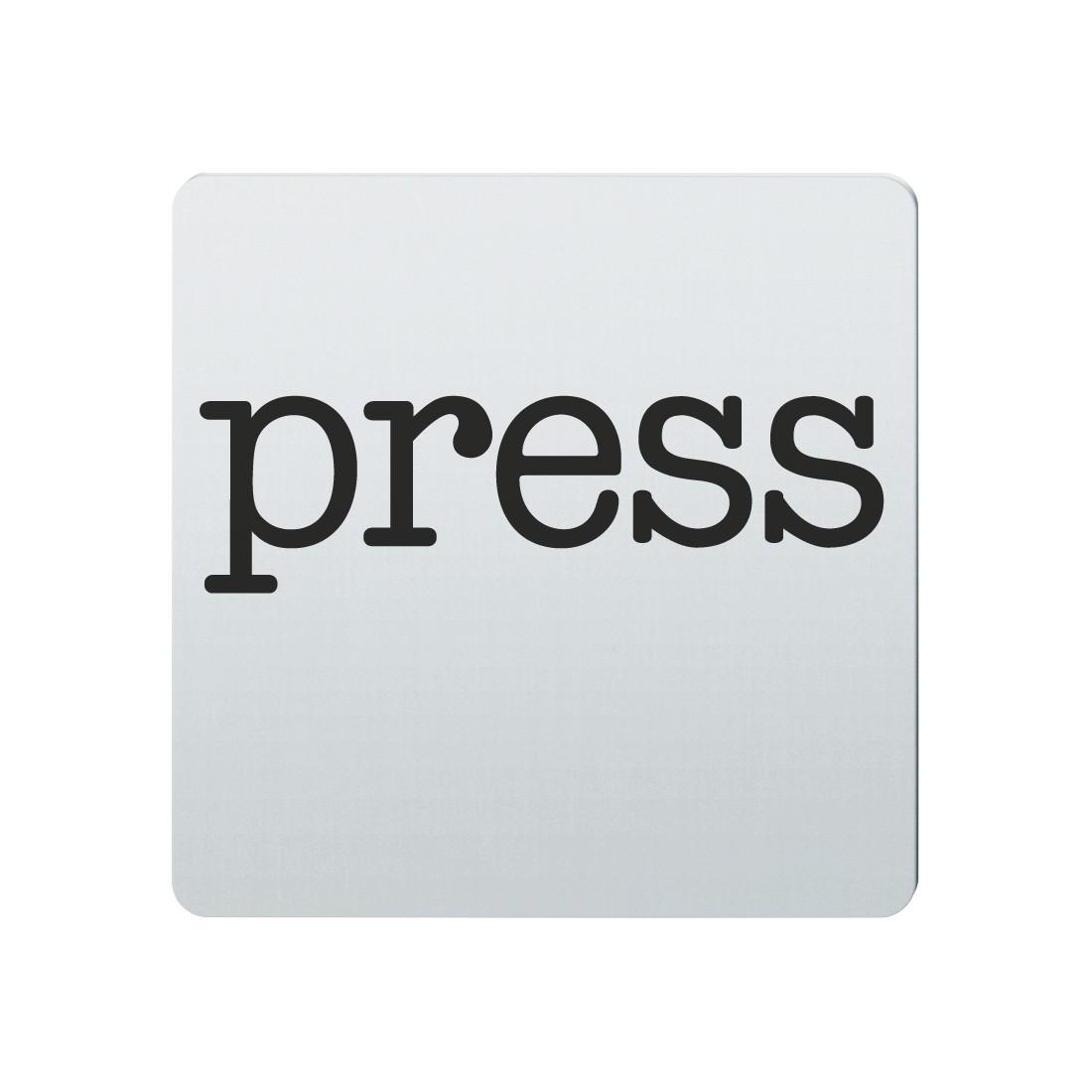 FSB Hinweiszeichen Presse Lasergraviert Edelstahl fein matt (0 36 4059 00230 6204)
