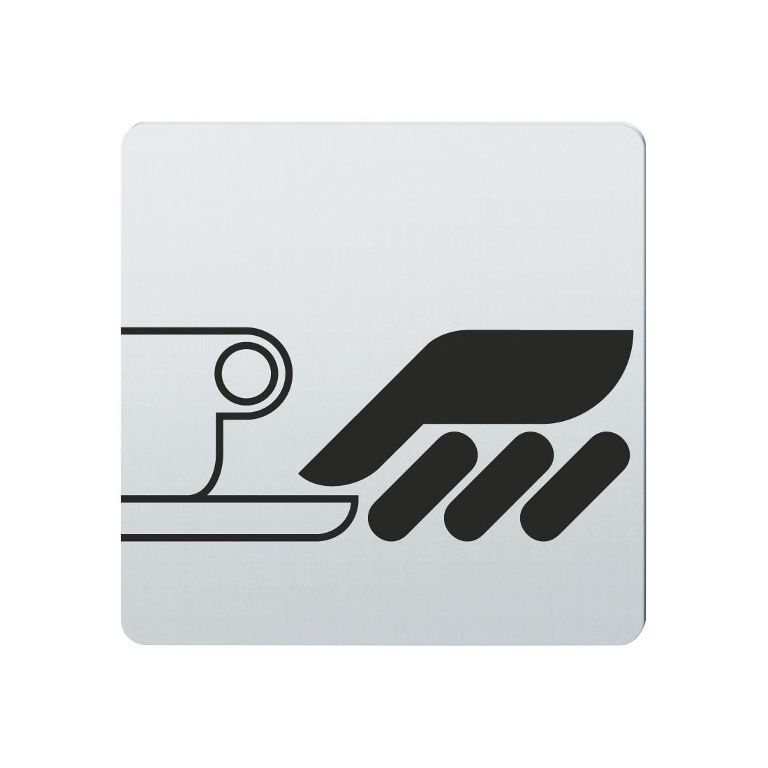 FSB Hinweiszeichen Selbstbedienung Lasergraviert Edelstahl fein matt (0 36 4059 00316 6204)