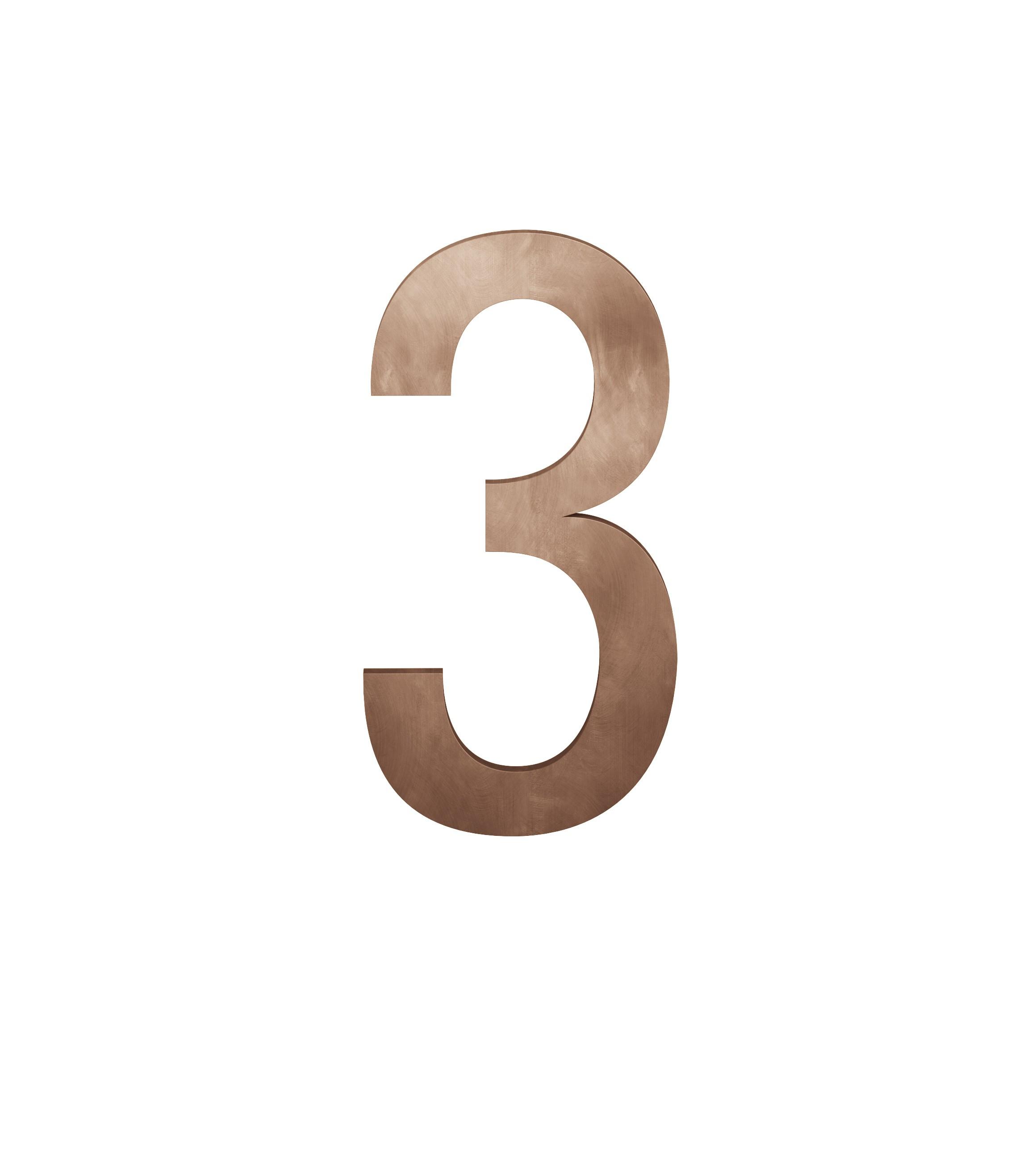 FSB Hausnummer Ziffer 3 Bronze (0 38 4005 00003 7615)