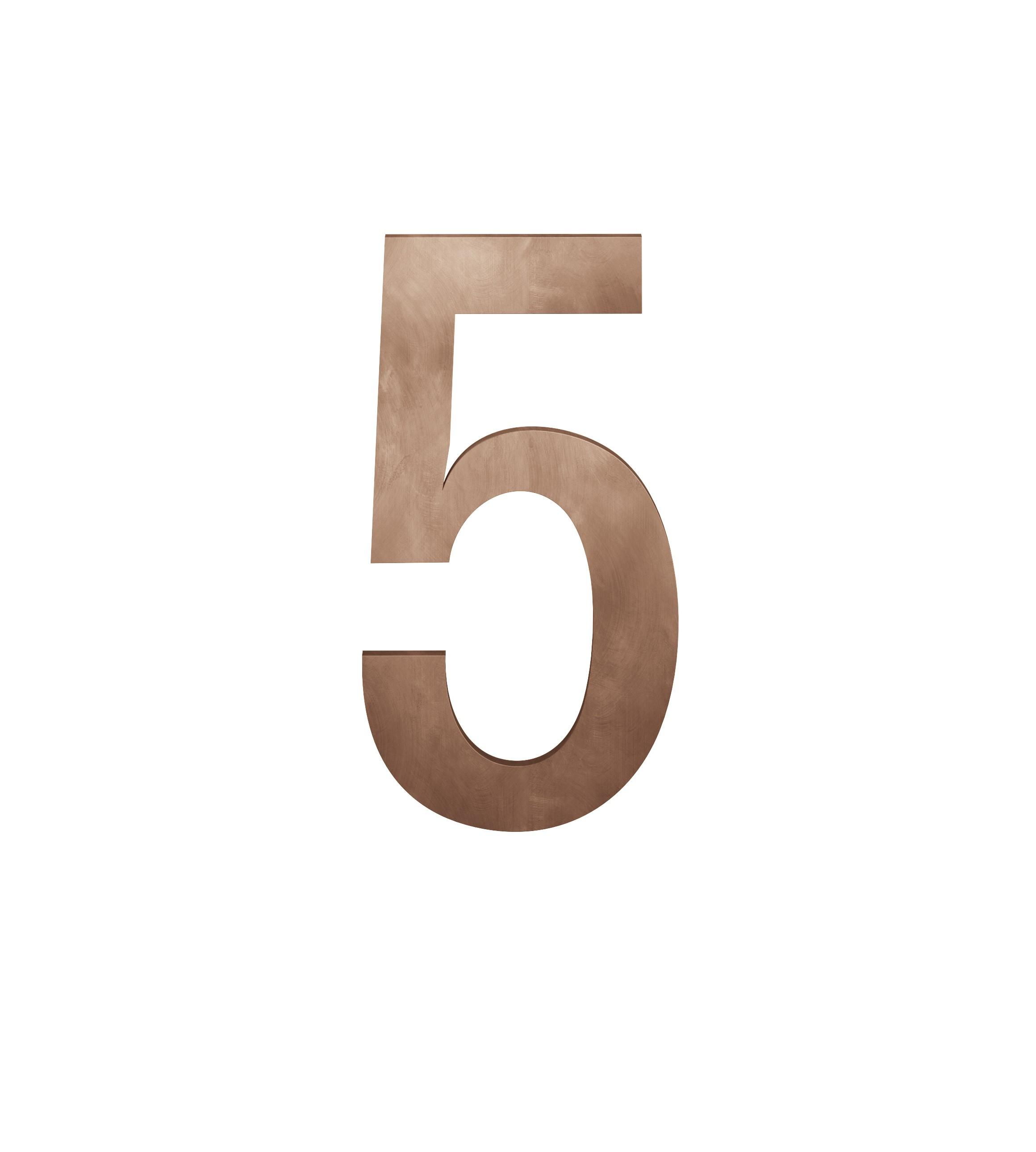 FSB Hausnummer Ziffer 5 Bronze (0 38 4005 00005 7615)