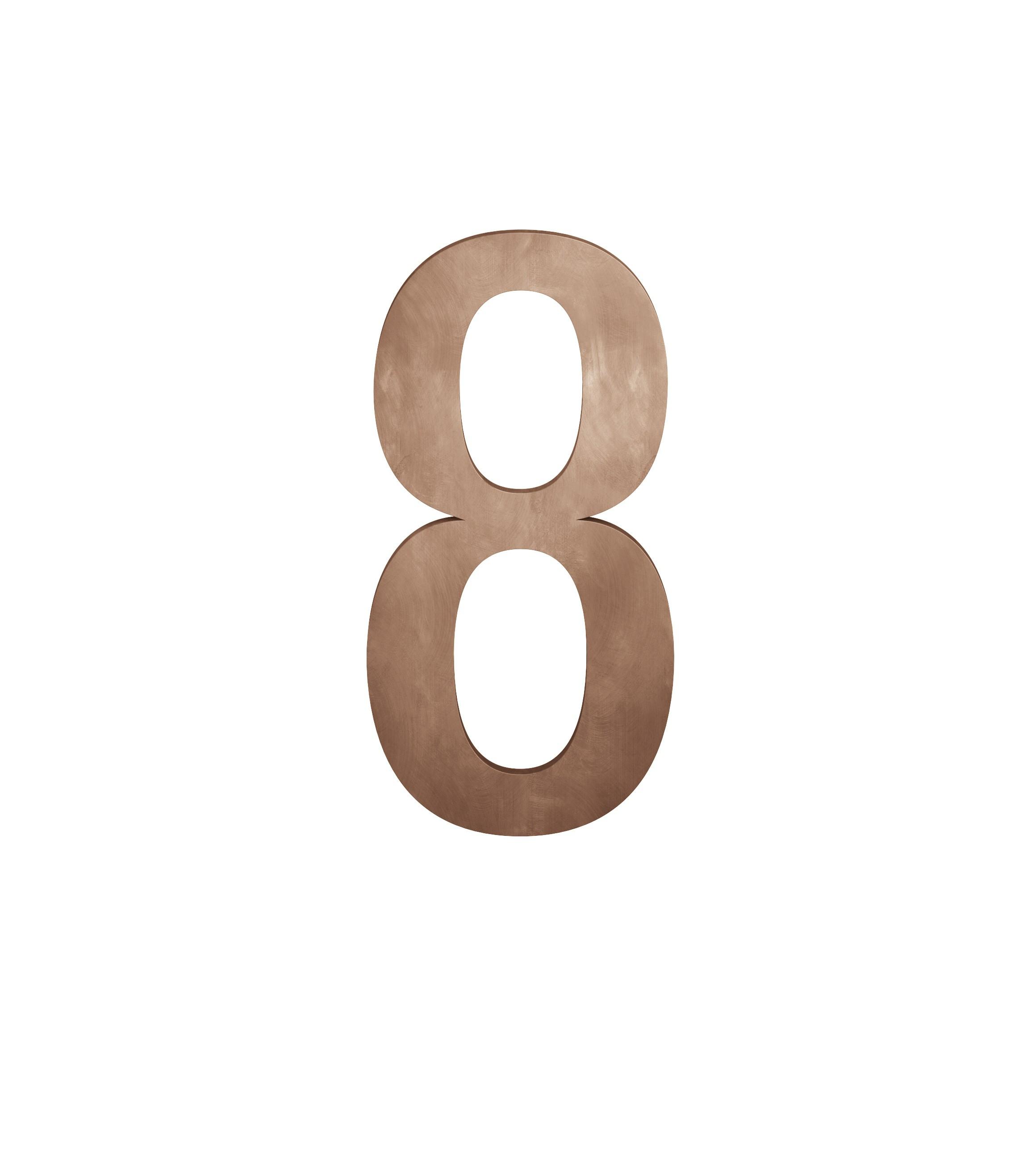 FSB Hausnummer Ziffer 8 Bronze (0 38 4005 00008 7615)