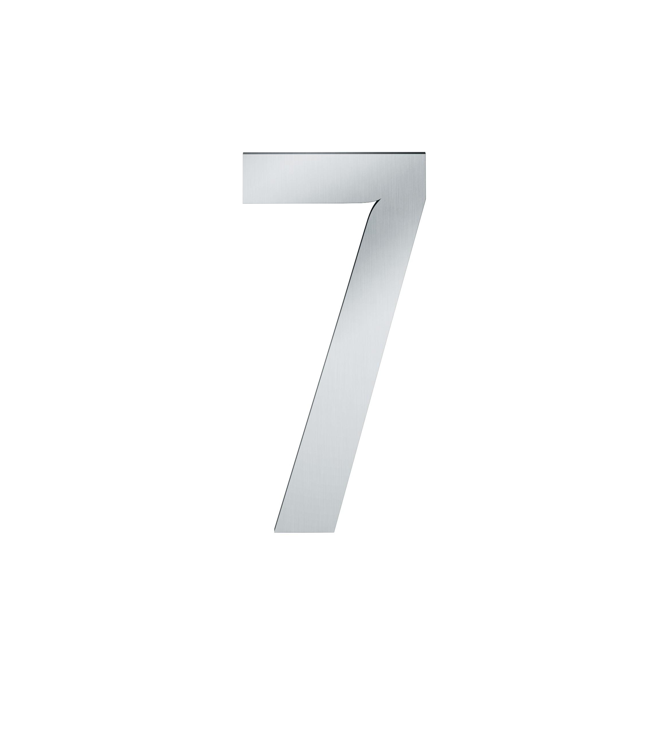 FSB Hausnummer Ziffer 7 Edelstahl (0 38 4005 00007 6204)