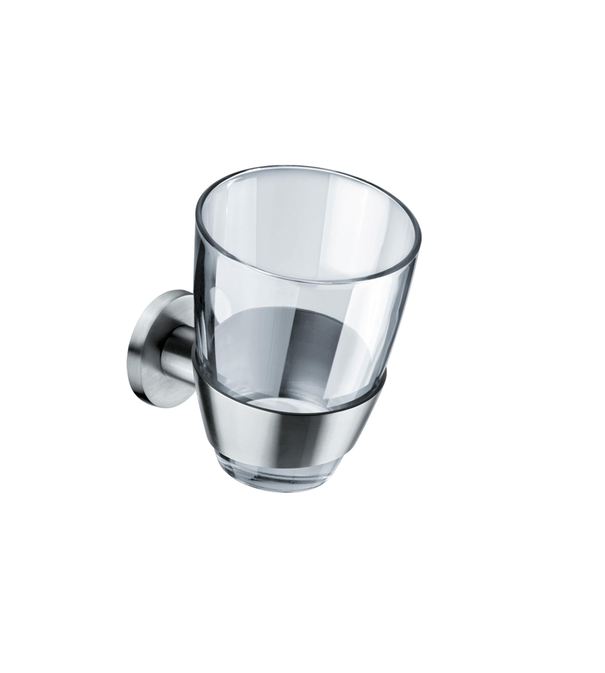 FSB Glashalter mit Glasbecher Glasbecher Metric Klebetechnik Edelstahl fein matt(0 82 8270 08041 6204)