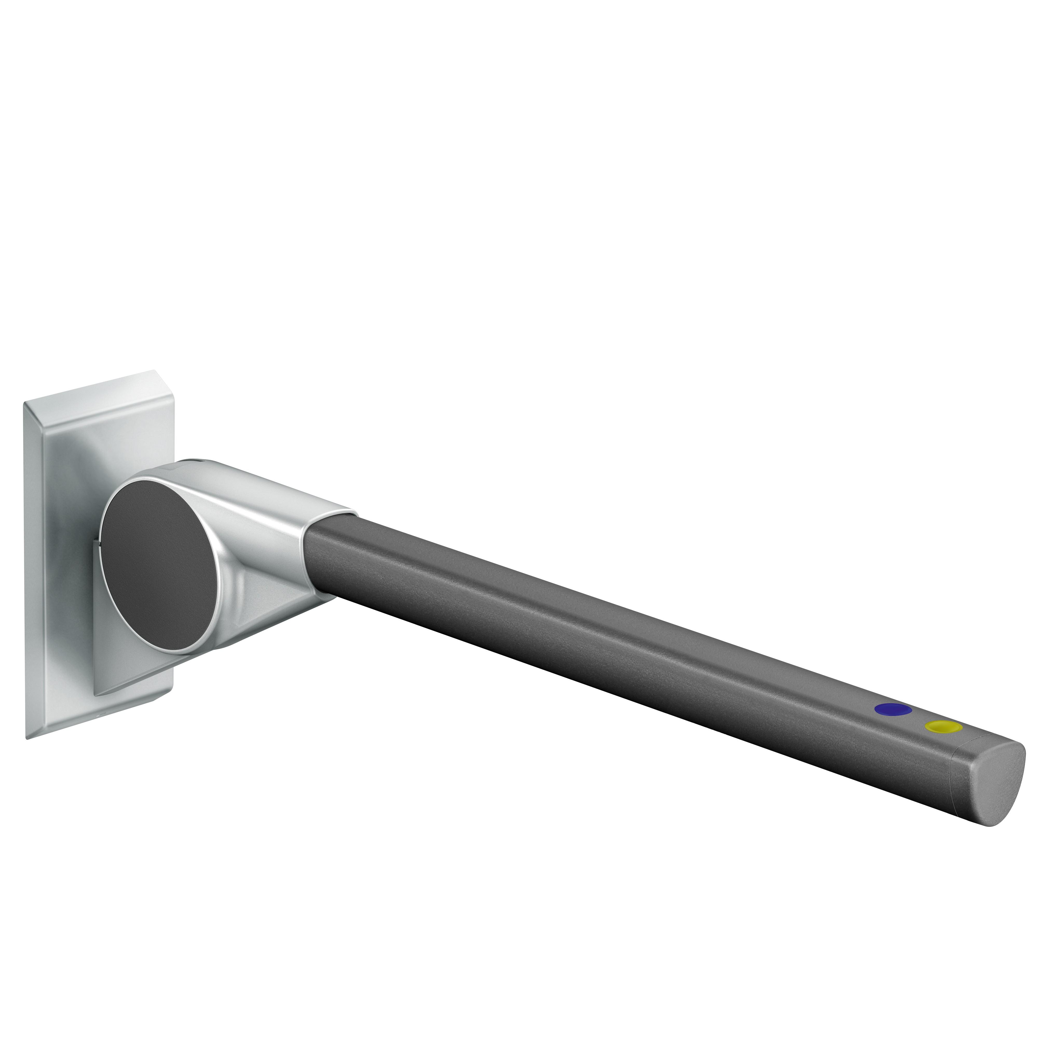 FSB Stützklappgriff 850 2 Taster A100 2 Taster blau/gelb Stützen Aluminiumgrau metallinksc Stange Anthrazitgrau metallinksc(0 82 8420 00485 8811)