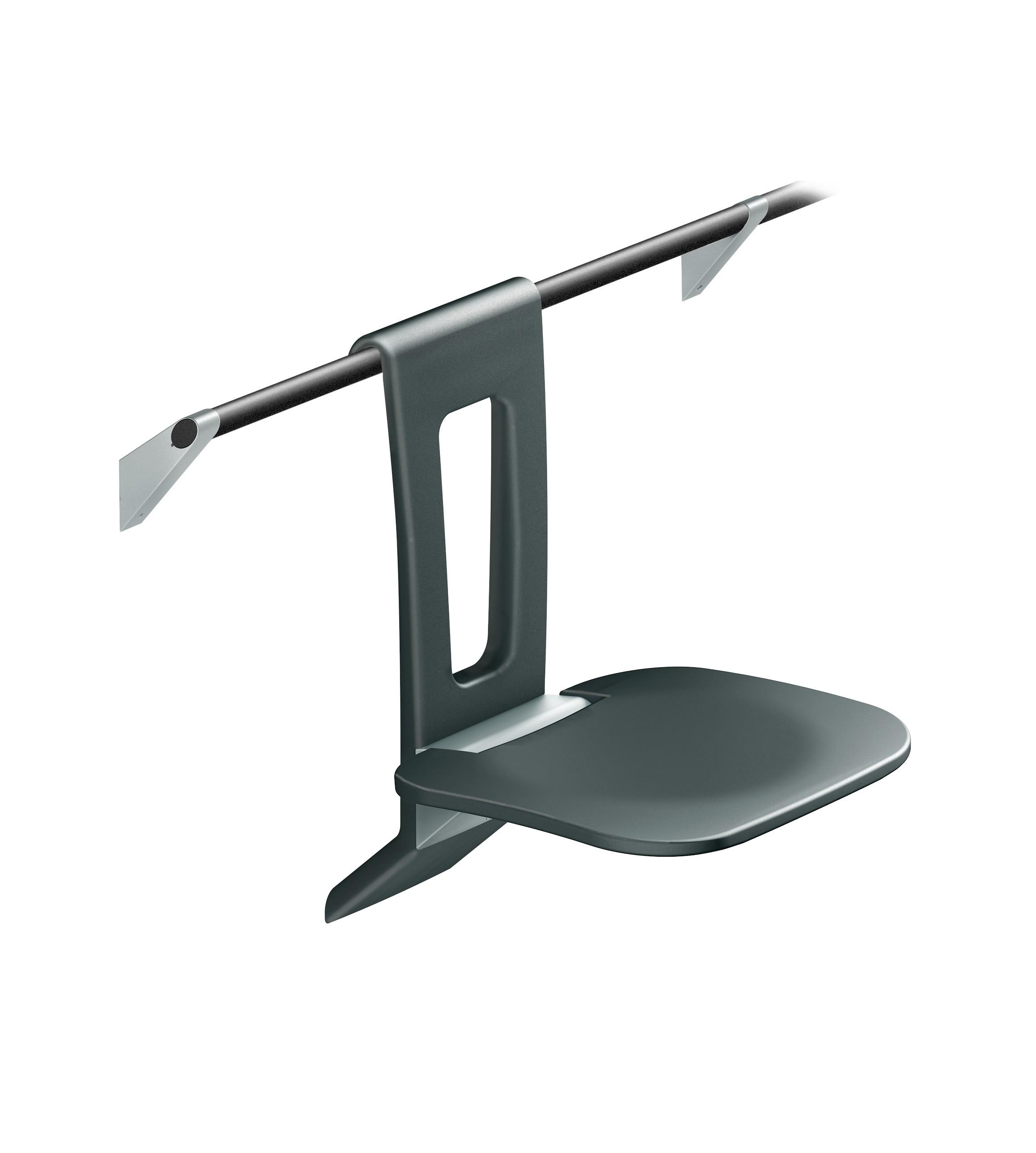 FSB Einhängesitz min A100 Sitz 381x368 mm Graphitgrau / Aluminiumgrau metallinksc(0 82 8450 10000 8837)