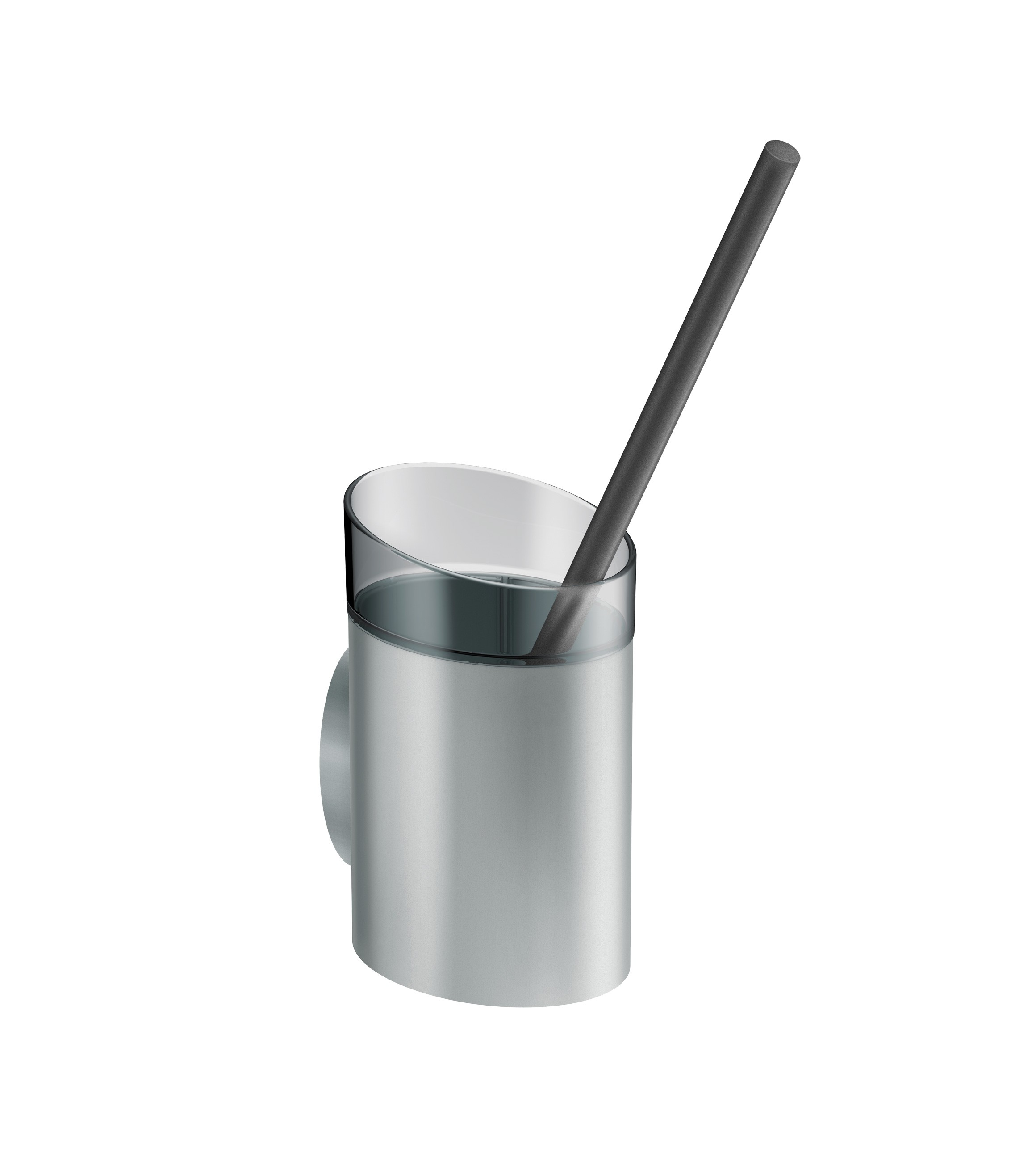 FSB WC-Bürstengarnitur A100 Aluminiumgrau metallinksc Anemonenweiß (0 82 8460 00008 8223)