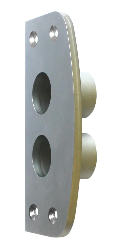 ASSA ABLOY IKON Mauerschließblech 8451 aus Stahl vernickelt