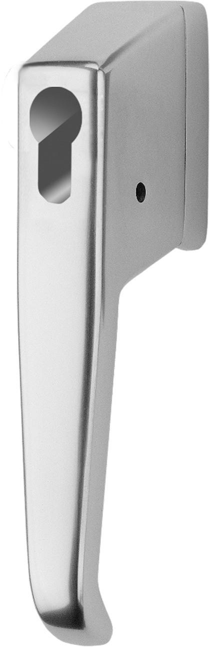 ASSA ABLOY Abschließbarer Fenstergriff für Profilzylinder 9M10 44953 9M10,AUS=PHZ VOR Ohne Zylinder vorgerichtet für Profil-Halbzylinder F1 Silberfarben