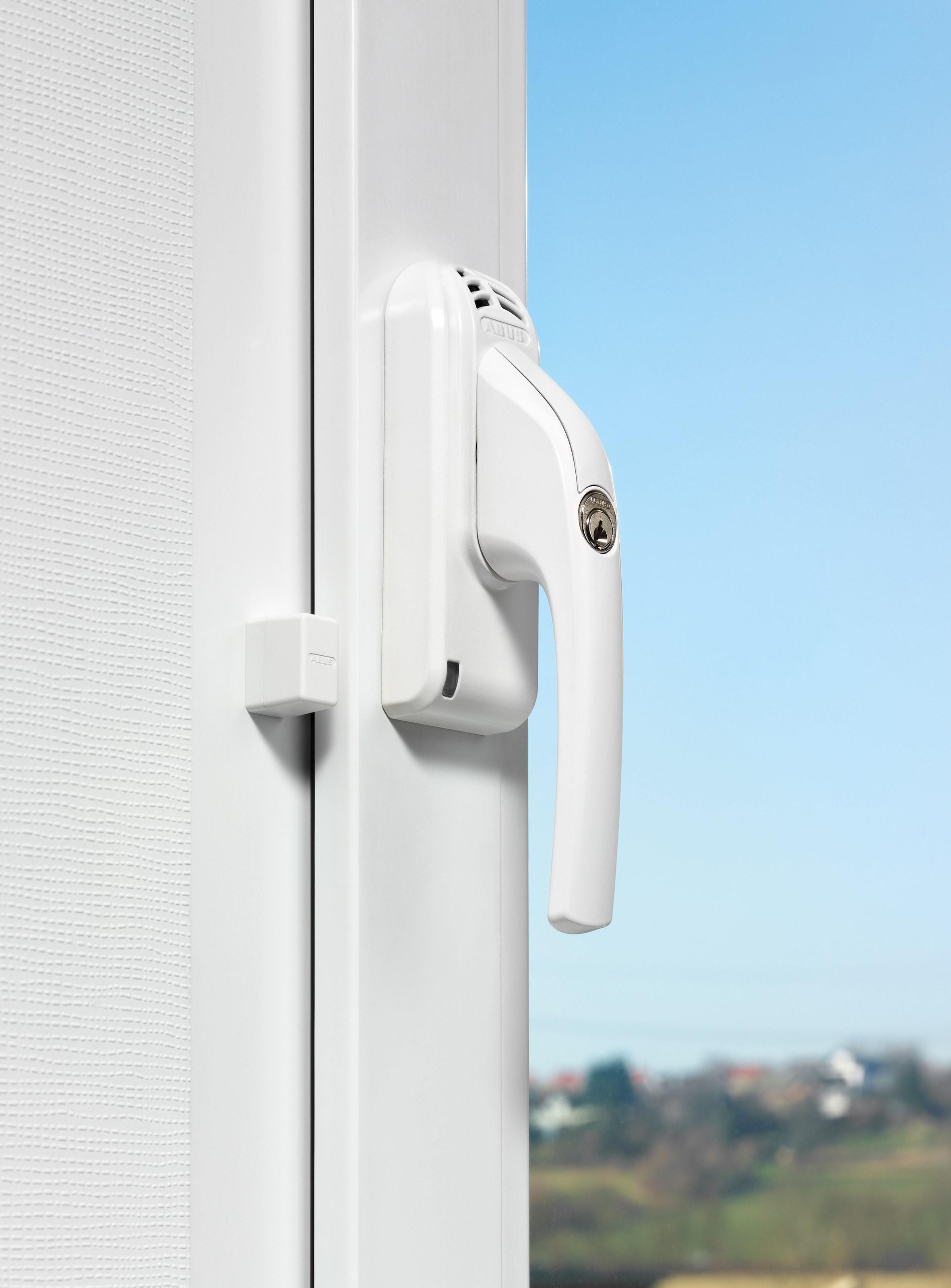 ABUS Abschließbarer FG300A Fenstergriff mit Alarm nach DIN18297 Klasse 2 ohne Schlüssel
