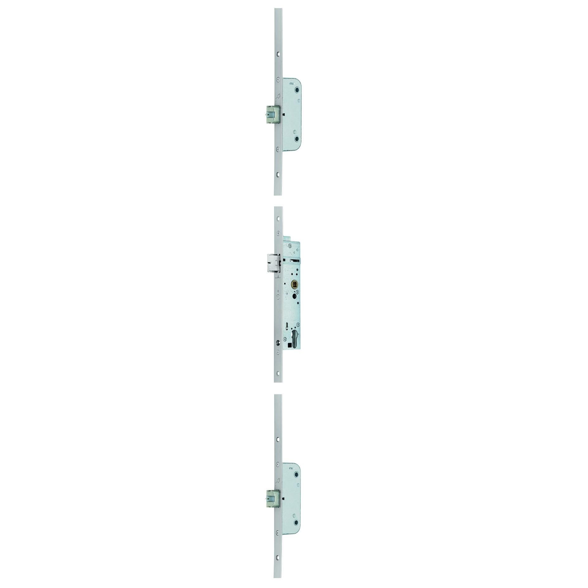 BKS- Panik Mehrfachverriegelung Secury 1910 / 92 / 35 / 9 / F24x2285x3mm / F-B / Edelstahl / DIN: Links / EN179 + EN1125 / 1-flg.