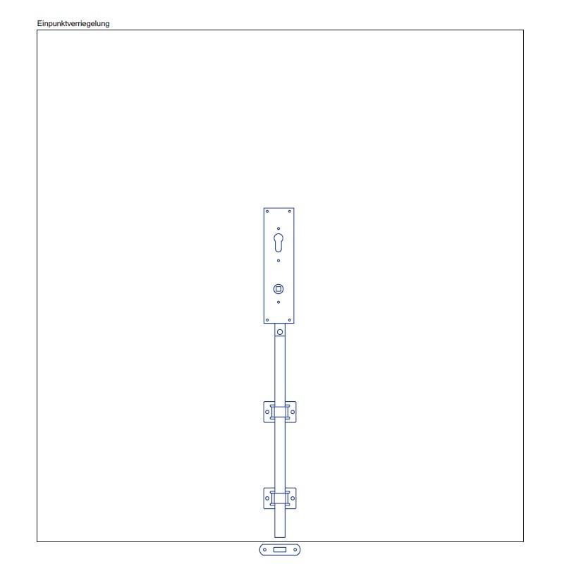 Torfeststeller GTB VH1 Tortreibriegel Garagentorverschluss PZ mit Einpunktverriegelung Torriegel