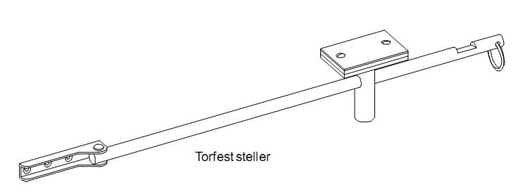 Garagentorfeststeller Torfeststeller Türfeststeller TFS 85 Garagentorschloss Stangenlänge 850 mm