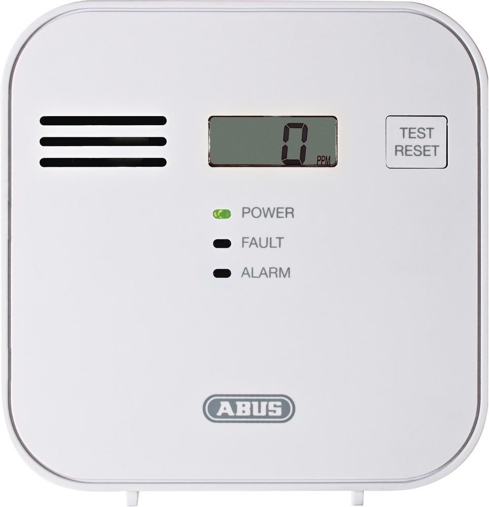 ABUS Kohlenmonoxid- CO- Warnmelder COWM300 Weiss