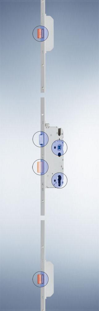 GU - Mehrfachverriegelung - Secury MR 2 mit 2 Massivriegel - 72 - 65 - 8 - 1050 - F16x2285x3