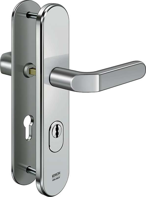 ASSA ABLOY IKON S403 Stahl-Schutzbeschlag mit Zylinderabdeckung - Drücker/Drücker