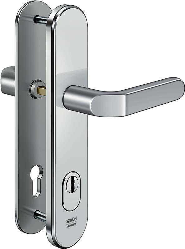 ASSA ABLOY IKON S413 Stahl-Schutzbeschlag mit Zylinderabdeckung - Drücker/Drücker
