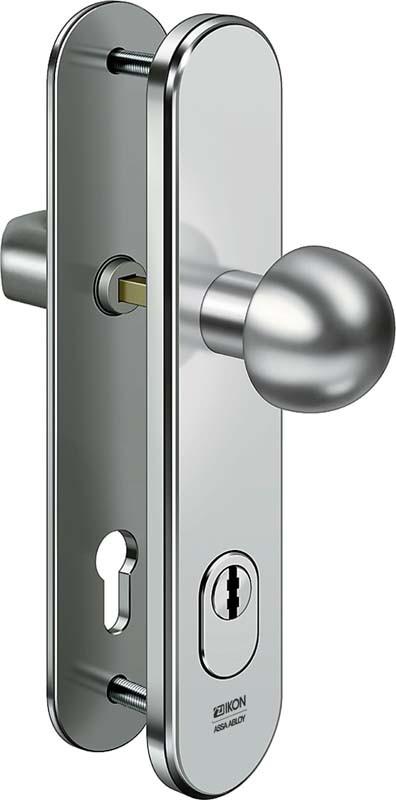 ASSA ABLOY IKON S416 Stahl-Schutzbeschlag mit Zylinderabdeckung - Rundknauf / Drücker