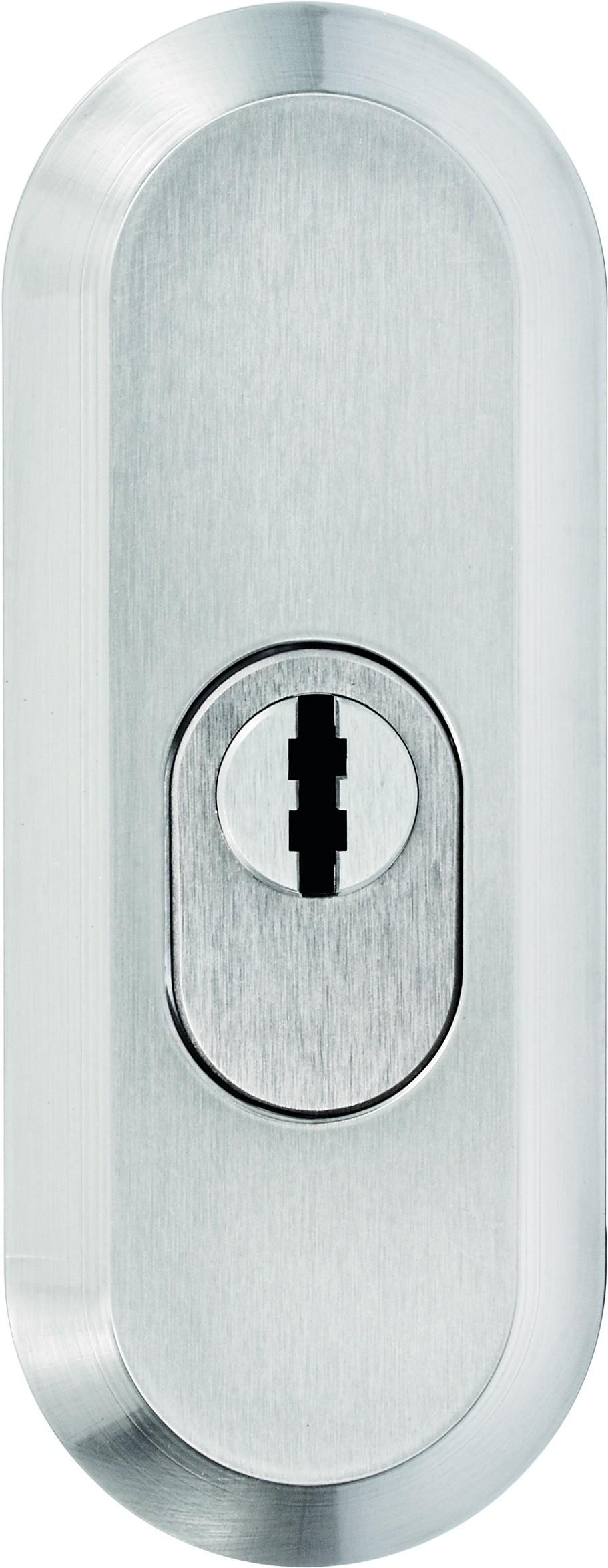 ASSA ABLOY IKON Schutzrosette mit Zylinderabdeckung S464 (neusilberfarben)