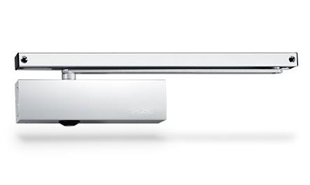 GEZE Türschliesser TS 3000, Türschließer mit Gleitschiene, Silber